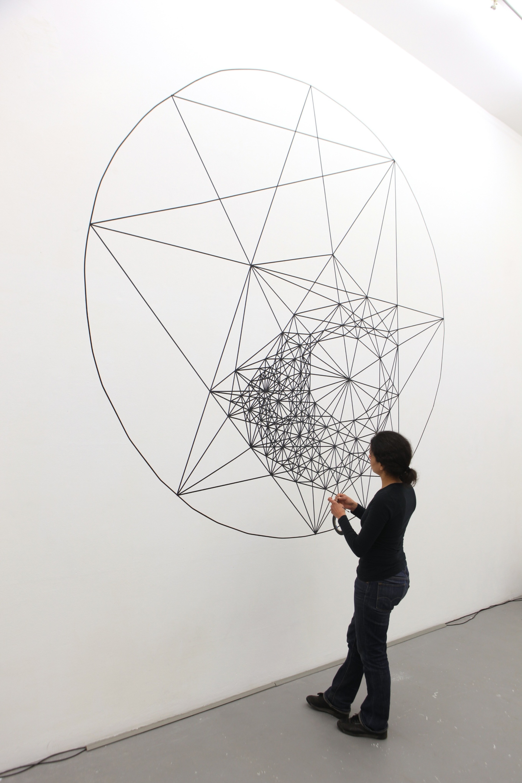 constellation, 2013, tape on wall, 400 x 300 cm, YGREC