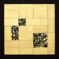 puzzle constellation, 2016, tempera, wood, tape, board, 49 x 49 x 0,8 cm